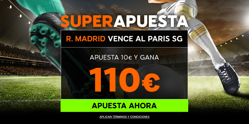 888Sport: PSG vs. Real Madrid @11.0