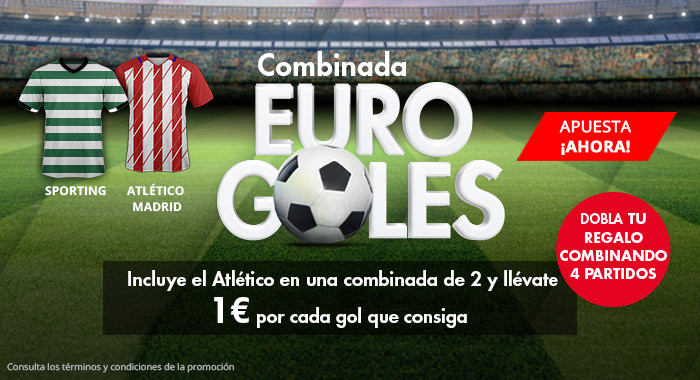 Suertia: Europa League. Combina al At. Madrid y llévate 1€ por cada gol