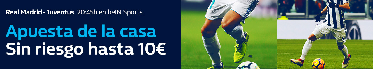 William Hill: Real Madrid vs. Juventus. Apuesta de la casa
