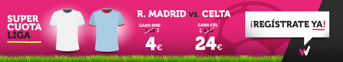 Wanabet: ¿Madrid @4.0 vs. Celta @24.0? + 200€