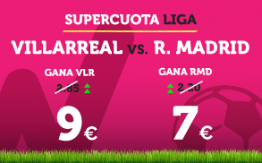 Wanabet: ¿Villarreal @9.0 vs. Real Madrid @7.0? + 200€