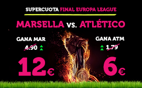 Wanabet: Final Europa League ¿Marsella @12.0 vs. At. Madrid @6.0? + 200€