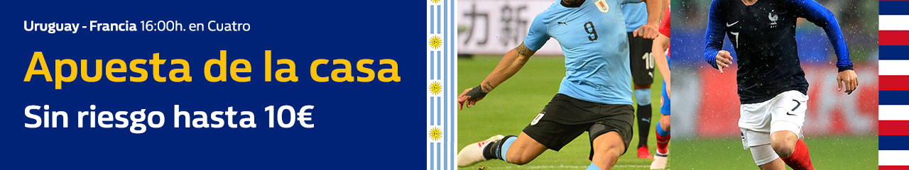 William Hill: Uruguay vs. Francia. Apuesta de la casa