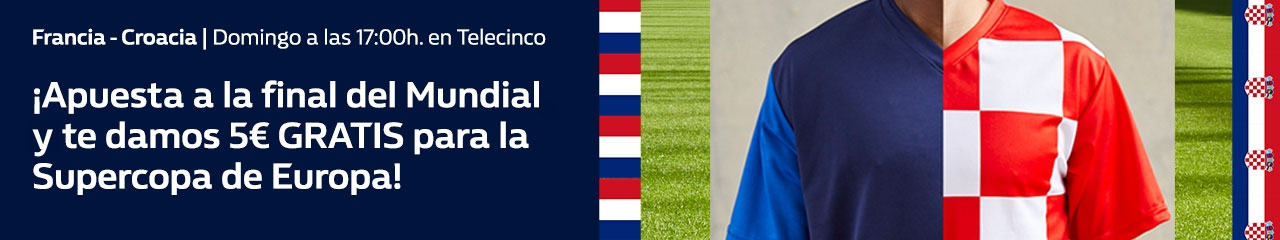 William Hill: Francia vs. Croacia. Apuesta 10€ y llévate 5€