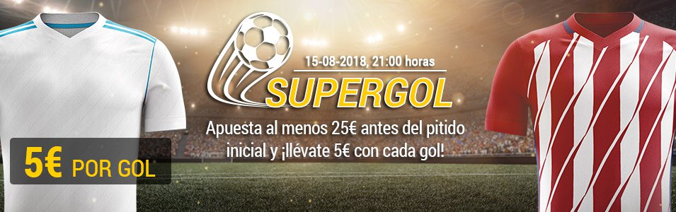 Bwin: Supercopa Europa. R. Madrid vs. At. Madrid. Llévate 5€ GRATIS por cada gol