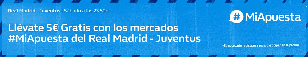 William Hill: Real Madrid vs Juventus. #MiApuesta Llévate 5€ GRATIS