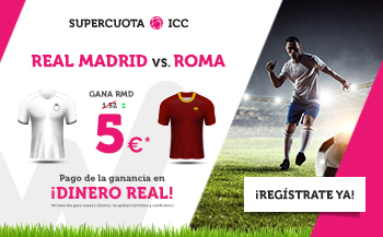 Wanabet: Real Madrid @5.0 vs. Roma + 200€