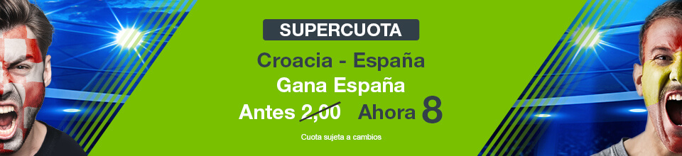 Codere: Supercuota Croacia vs. España + 350€