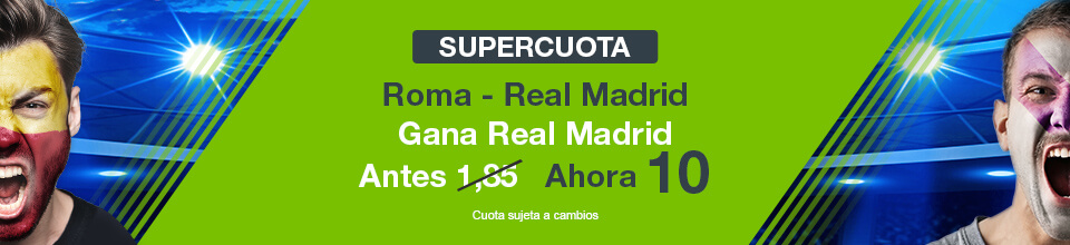 Codere: Supercuota Roma vs. Madrid + 350€