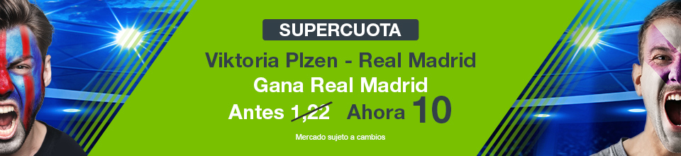 Codere: Supercuota Viktoria Plzen vs. Real Madrid + 350€
