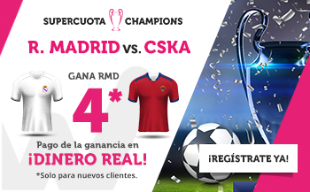 Wanabet: Madrid @4.0 vs. CSKA + 200€