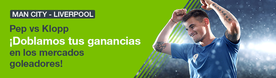 Codere: Man. City vs. Liverpool. Doblamos tus ganancias