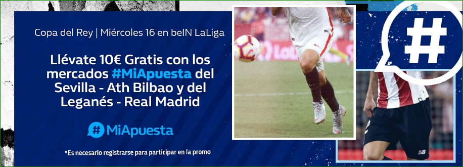 William Hill: Sevilla vs. Athletic + Leganés vs. Madrid. #MiApuesta Llévate 10€ GRATIS