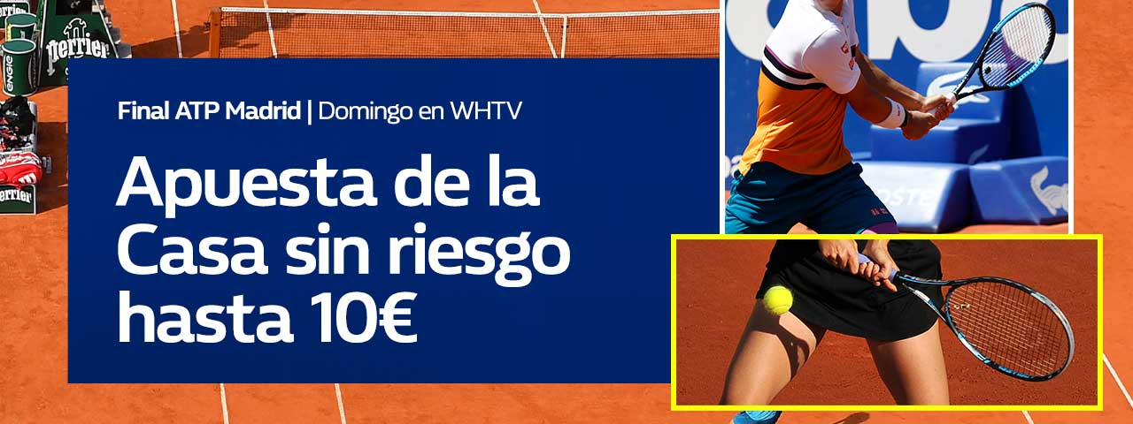 William Hill: Djokovic vs Tsitsipas. Hasta 10€ sin riesgo