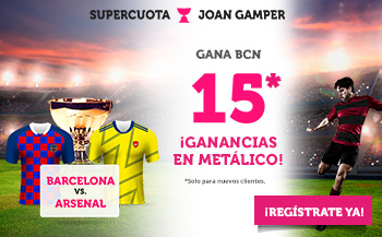 Wanabet: FC Barcelona @15.0 vs. Arsenal + 100€
