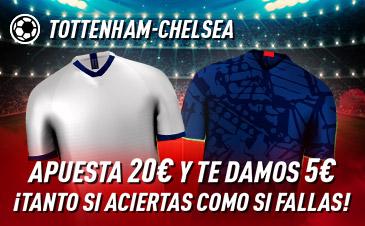 Sportium: Tottenham - Chelsea. Haz tú apuesta y te damos 5€ ¡¡¡GRATIS!!!