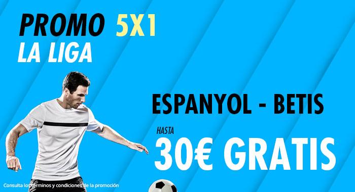 Suertia: Espanyol - Betis. Haz tu apuesta y llévate hasta 30€ GRATIS