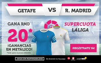 Wanabet: Getafe vs R. Madrid @20.0 + 100€