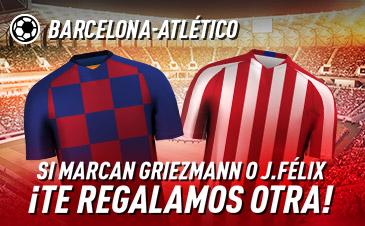 Sportium: FC Barcelona – At. Madrid. Si marcan Griezmann o Joao Félix ¡Te damos otra!