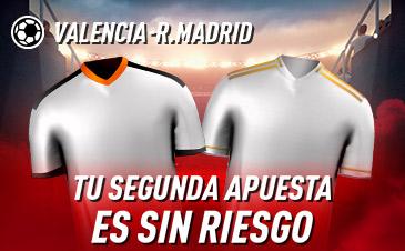 Sportium: Valencia - Real Madrid. Tu 2ª apuesta ¡¡¡SIN RIESGO!!!