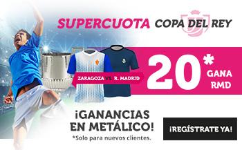 Wanabet: Zaragoza vs Real Madrid @20.0 + 100€