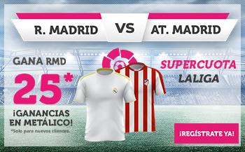 Wanabet: Real Madrid @25.0 –At. Madrid + 100€