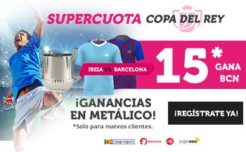 Wanabet: Ibiza vs Barça @15.0 + 100€