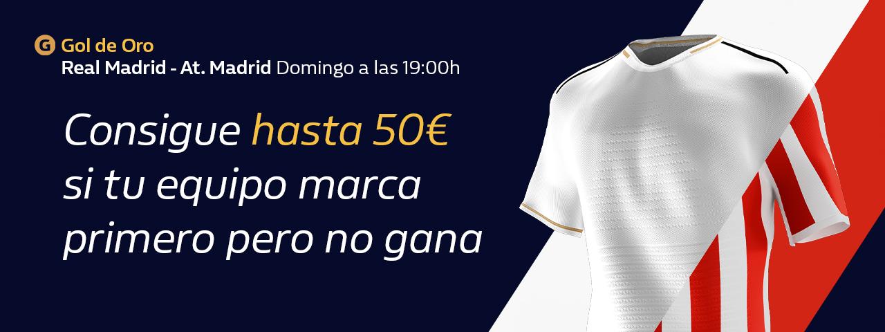 William Hill: Real Madrid – At. MAdrid. Llévate hasta 50€ si tu equipo pierde