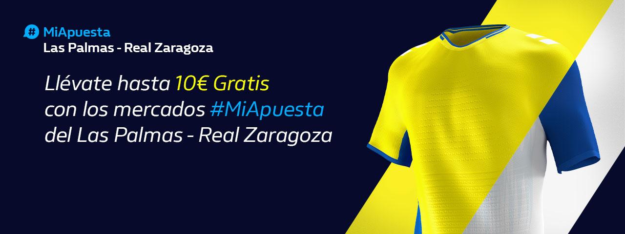 William Hill: Las Palmas - Real Zaragoza. Hasta 10€ sin riesgo con #MiApuesta