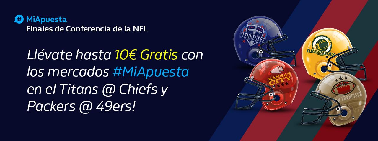 William Hill: Finales Conferencia NFL. Hasta 10€ sin riesgo con #MiApuesta