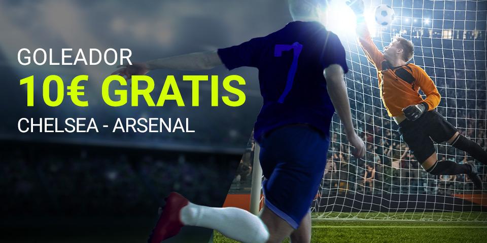 "Luckia: Chelsea - Arsenal. Apuesta a ""Goleador"" con seguro"