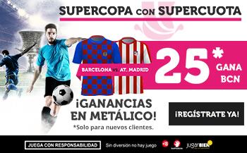 Wanabet: FC Barcelona @25.0 – At. Madrid + 100€