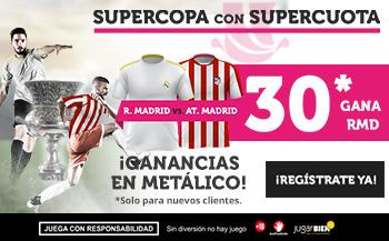 Wanabet: Real Madrid @30.0 vs At. Madrid + 100€