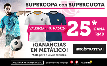 Wanabet: Valencia vs R. Madrid @25.0 + 100€