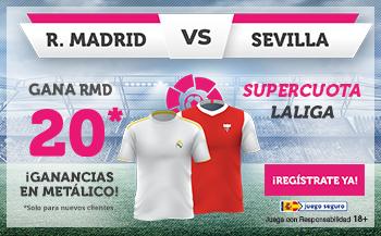 Wanabet: Real Madrid @20.0 vs Sevilla + 100€