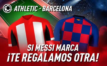 Sportium: Ath. Bilbao – FC Barcelona. Si marca Messi ¡Te damos otra!