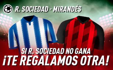 Sportium: Real Sociedad - Mirandés. Si la Real no gana ¡Devolución!