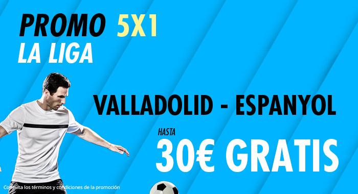 Suertia: Valladolid - Espanyol. Haz tu apuesta y llévate hasta 30€ GRATIS