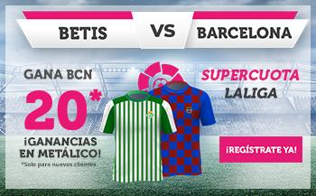 Wanabet: Betis vs Barça @20.0 + 100€
