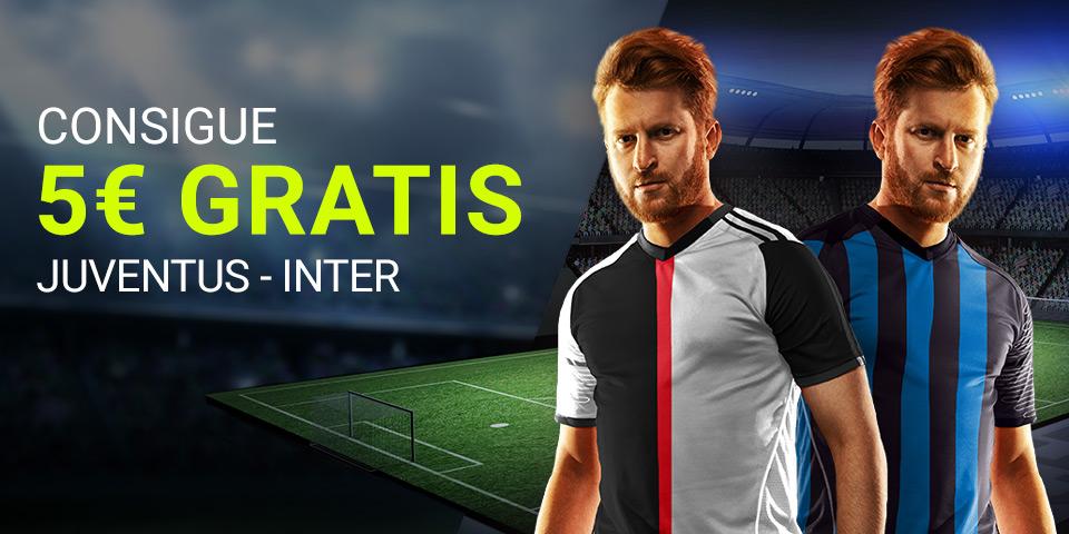 Luckia: Juventus - Inter. Llévate 5€ GRATIS
