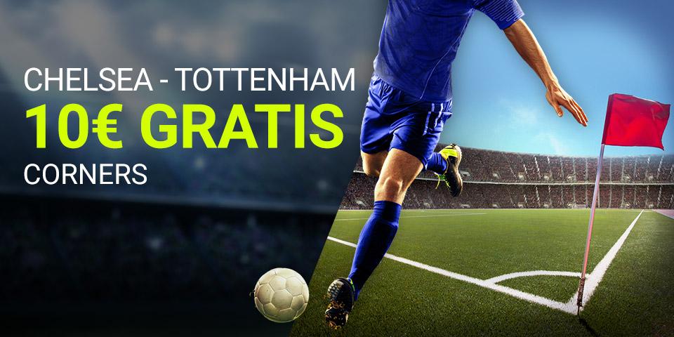 Luckia: Chelsea – Tottenham. Apuesta a número de córners con seguro