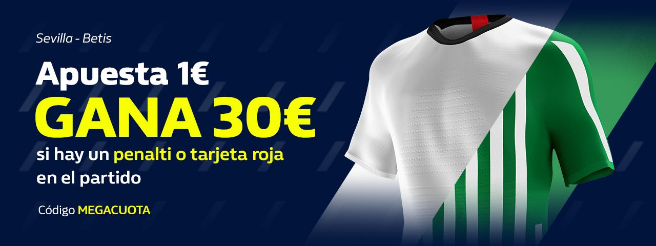 William Hill: Sevilla - Betis. 30€ GRATIS con las MEGACUOTAS