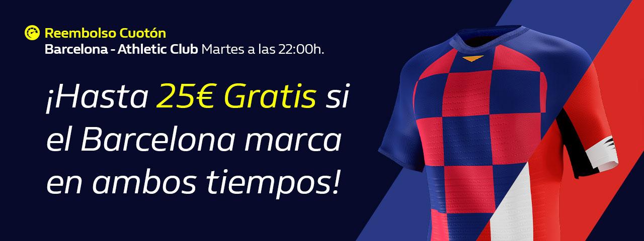 William Hill: Reembolso de hasta 25€ en el FC Barcelona – Ath. Bilbao