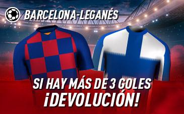 Sportium: FC Barcelona-Leganés. Si se marcan más de 3 goles ¡Devolución!