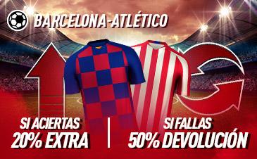 Sportium: FC Barcelona – At. Madrid. Si aciertas +20% EXTRA; Si fallas +50% DEVOLUCIÓN