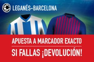 Sportium: Leganés vs. Barça. Apuesta a 'Marcador Exacto'… Si fallas ¡Devolución!