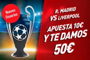 Sportium: Final Champions. Haz una apuesta de 10€ o más... ¡Y te damos 50€!