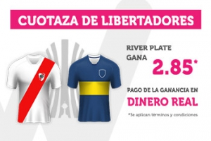 Wanabet: River @2.85 vs. Boca