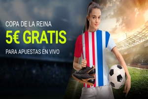Luckia: At. Madrid vs. Real Sociedad (Copa de la Reyna). Llévate 5€ GRATIS
