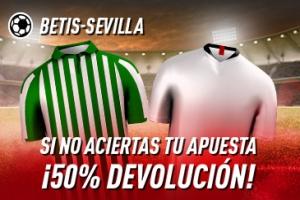Sportium: Betis vs. Sevilla. Si fallas 50% DEVOLUCIÓN